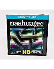 """Nashuatec Hoge dichtheid HD 2-zijdige 3,5""""Diskette geformatteerd 10 Diskettes per Pack voor opslaggegevens"""