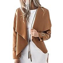 Women Casual Winter Open Front Solid Cardigan Outercoat Trenchcoat Top