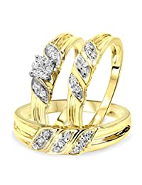 1/4 Carat T.W. Round Cut Diamond Women's Engagement Ring, Ladies Wedding Band,
