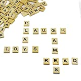 Ocr 100PCS Wooden Scrabble Tiles Mixed Alphabet Letter