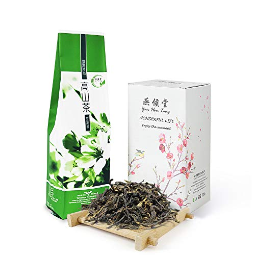 Yan Hou Tang Organic Taiwan Oolong Green Tea Wen Shan Baozhong Pouchong Loose Leaf Licorice Coconut 75g 25 Servings - Half Fermented Formosa High Mountain Simliar Chinese LongJing Tea Unique Feature Weight Loss