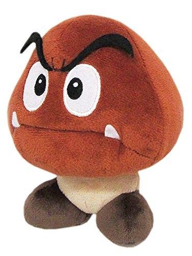 "Little Buddy Super Mario All Star Collection 1427 Goomba Stuffed Plush, 5"""