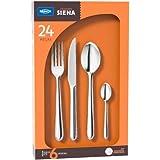 Faqueiro Siena, 24 Peças, Embalagem Compacta, Aço Inox, Brinox