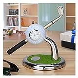 Golf Pen Gift With Holder,Mini Desktop Golf Clock Ball Stand With Golf Pens 2pcs Set Of Golf Souvenir Tour Souvenir Novelty Gift|A Perfect Gift For Father Golf Fans Boyfriend Boy Men Coworker