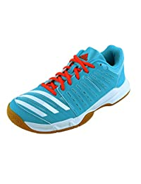 Adidas Essence 12 Women's Indoor Court Shoes Bright Cyan Blue (8.5)