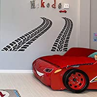 Curved Tire Tracks Wall Decal Car Nursery Decor Boys...