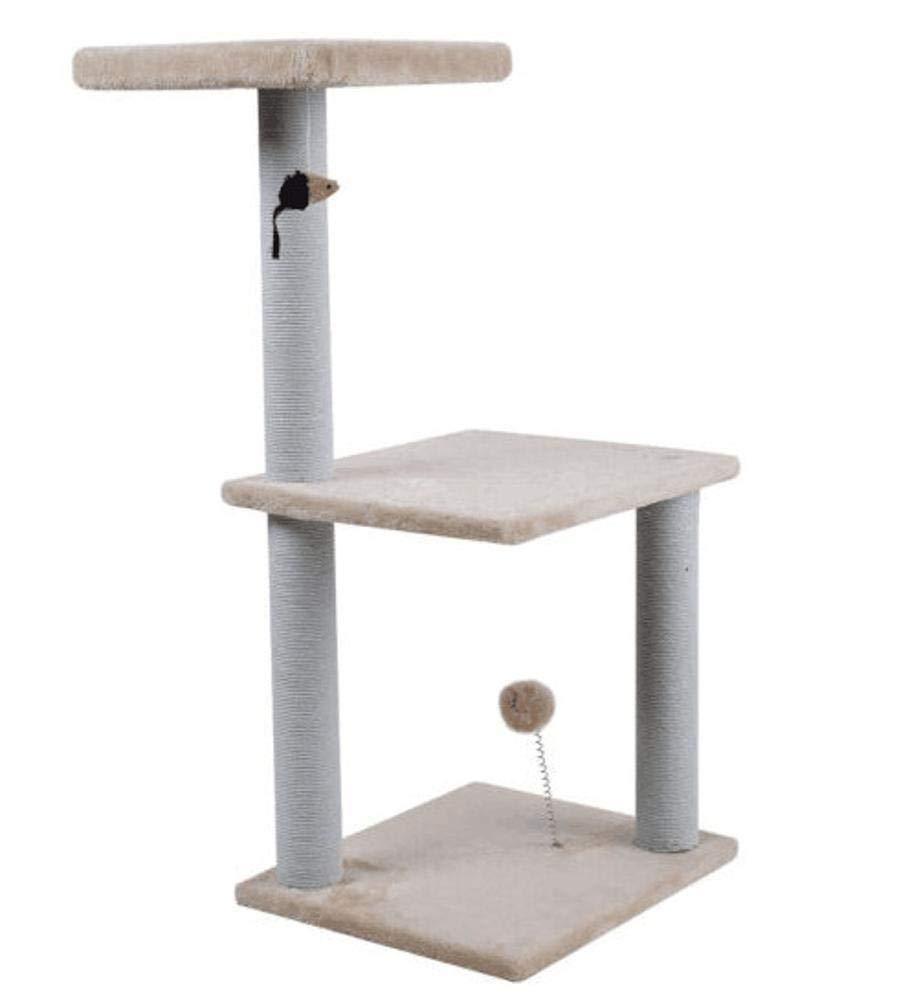 TOUYOUIOPNG Deluxe Multi Level Cat Tree Cat climbing cat grab pillar cat nest for game sleeping 40cm 35cm  84cm (color   Black)