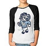 Women's NCAA University Of North Carolina Tar Heels Raglan Baseball T-Shirt