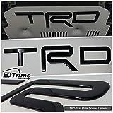 BDTrims | Domed TRD Skid Plate Letters Inserts fits 4Runner 2015-2019 / FJ Cruiser 2010-2014 Models (Glossy Black)