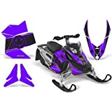 CreatorX Ski-Doo Rev Xp Snowmobile Sled Graphics Kit Wrap Decals Canadian Flyer Black Purple