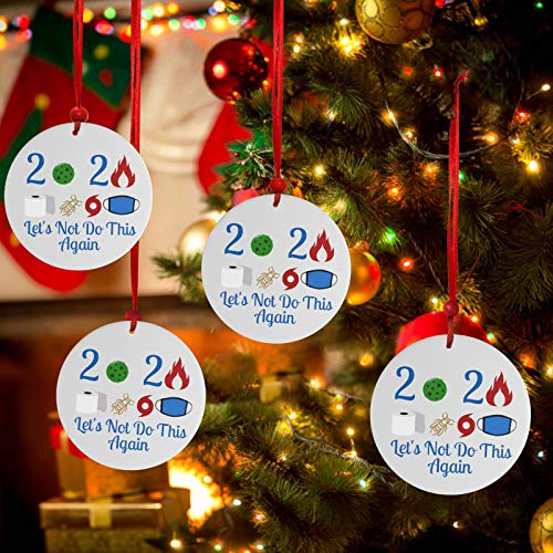 GuangYuan Christmas Ornament 2020 Xmas Tree Hanging Round Decorations 2021 Soul Décor Christmas Ornaments (1 PC)