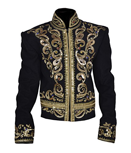 MSHC Michael We Are The World Video Hand Made Golden Jacket (SMALL) Black