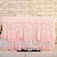 miaomiao Rural Lace Liquid Crystal TV Cover TV Set TV Dust Cover, 32 inches, a