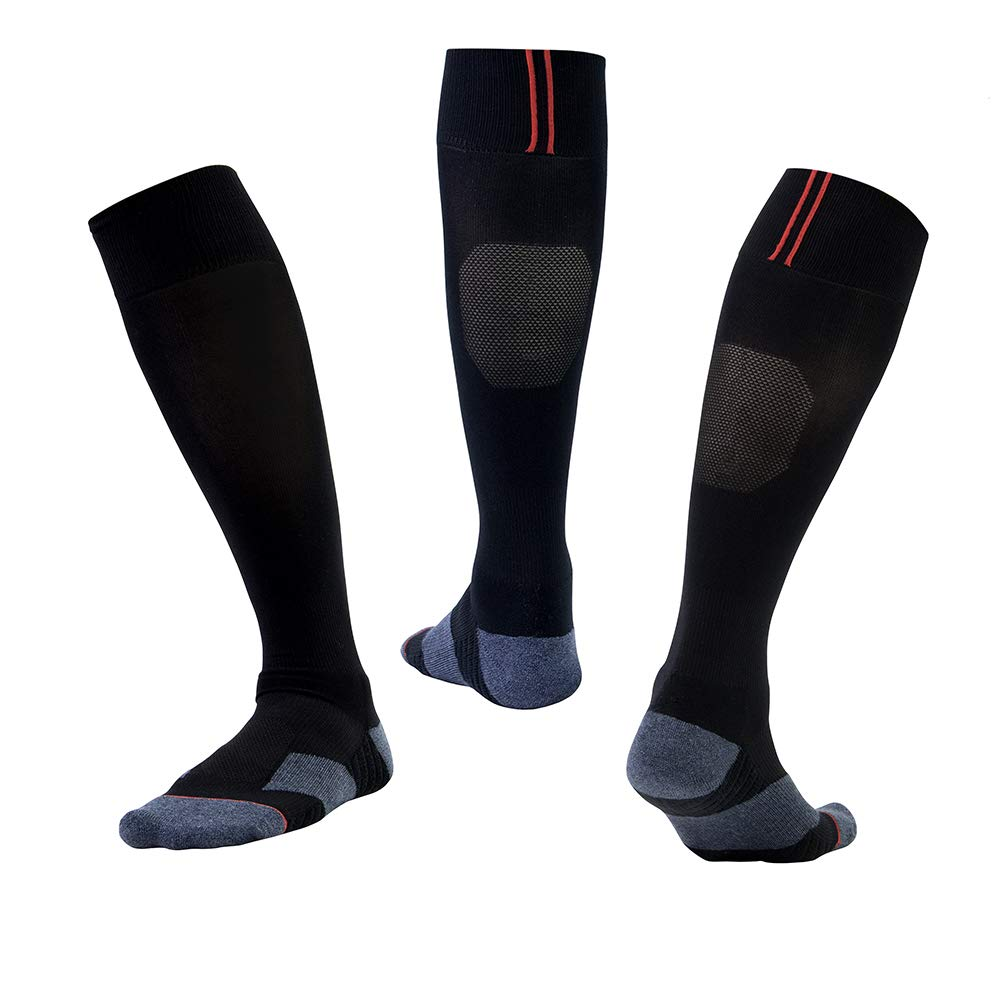 7a8f772ec1 Men & Women Plain Sports Football Sock Soccer Rugby Hockey Black Socks  product image