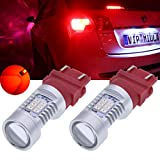 TUINCYN 3157 3157CK 3156 LED Turn Signal Light Bulbs Red 3047 3057 3057A 3357 4057 3155 2835 21SMD LED Light Auto Tail Backup Brake Light Lamp 10.5W DC 12V (2-Pack)