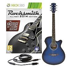 Rocksmith 2014 Xbox 360 + Single Cutaway Electro Acoustic Blue