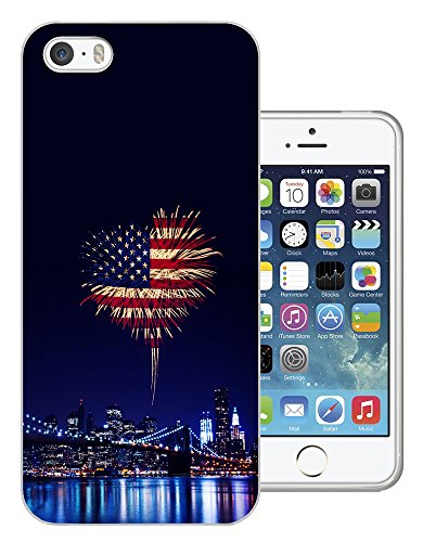 002727 - American Flag Fire Works Design iphone 4 4S Fashion Trend CASE Gel Rubber Silicone All Edges Protection Case Cover