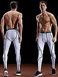 Neleus Men's 2 Pack Compression Pants Workout