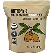 Organic Almond Flour (Blanched) by Anthony's 1 Pound (16 oz) Bag, Verified Gluten Free