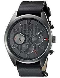 Tommy Hilfiger Men's 1791189 Casual Sport Analog Display Quartz Black Watch