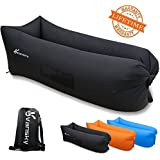 Inflatable Couch Hammock Portable Air Chair Air Filled Beach Lounger