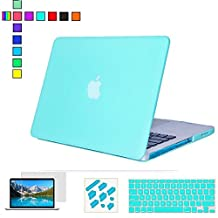 "13-inch Macbook Air Hard Case,RYGOU 4 in 1 Rubberized Matte Finish Plastic Case with Keyboard Cover Screen Protector and Anti-dust Plug for Macbook Air 13"" (A1369 and A1466)"
