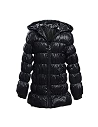 M2C Girls Hoodie Down Jacket Lightweight Puffer Down Jackets Windproof Coat for Girl