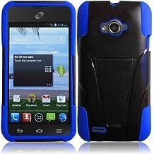 For ZTE Savvy Z750C Cover Case (T-Stand Hybrid  Black / Dark Blue)