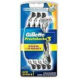 Lâmina de Barbear Descartável Gillette Prestobarba 3 Regular com 8 Unidades