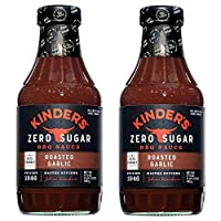 KINDER'S Keto Friendly Zero Sugar Roasted Garlic BBQ Sauce, 17.5 Oz, 2-Pack