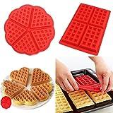 4-Cavity Silicone Waffle Mold, Belgian Waffle