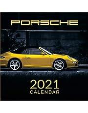 Porsche Calendar 2021: January 2021 through February 2022, Automobile Calendar, Supercars Calendar