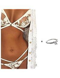 Lingerie Set,Doinshop Sexy Corset Lace Push Up Vest Top Bra+Pants Set