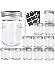 Betrome Wide Mouth Mason Jars 10 OZ, Glass Canning Jars with Airtight Lids and Bands for Salad,Jam,Honey,Food,Spice and More(12 Pack)