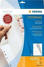 HERMA 7578 230 x 297 mm Papel 1pieza(s) - Protector (230 x 297 mm, Color blanco, Papel, Retrato, 1 pieza(s))