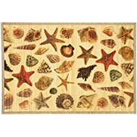 Kitchen Rugs Area Rugs 2 ft by 3 ft Bamboo for Indoor or Outdoor Patio Rug Beach Shell