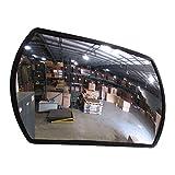 "Se-Kure Domes & Mirrors RTH-12X18 Acrylic Roundtangular Acrylic Mirror/Telescopic Mounting Bracket, 12"" x 18"""