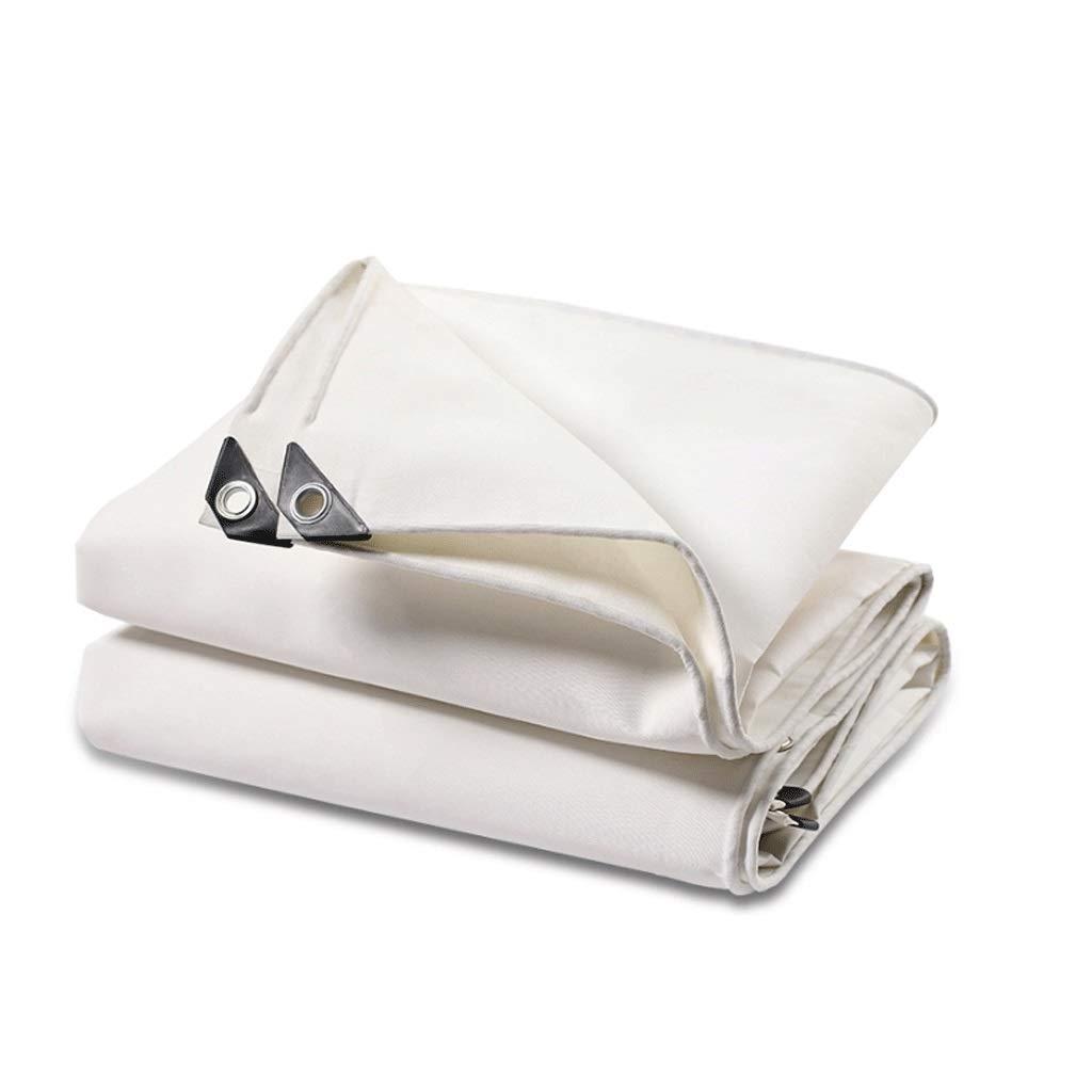 YH Toile Blanche résistante à l'usure Anti-Âge Toile Blanche bÂche de Pluie écran Solaire Ombre Tente Toile Tissu de Pluie extérieur Tissu auvent  2X4M