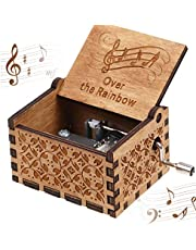 You are My Sunshine Wood Music Boxes,Vintage Hand Crank Carved Musical Box for Birthday/Christmas/Valentine's Day