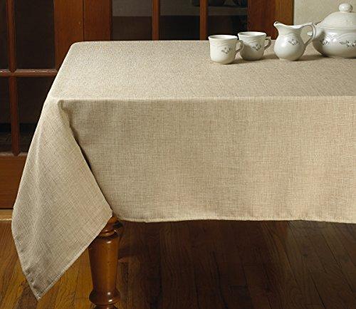 "Violet Linen Euro Vintage Design Tablecloth, 60"" x 84"", Oatmeal"