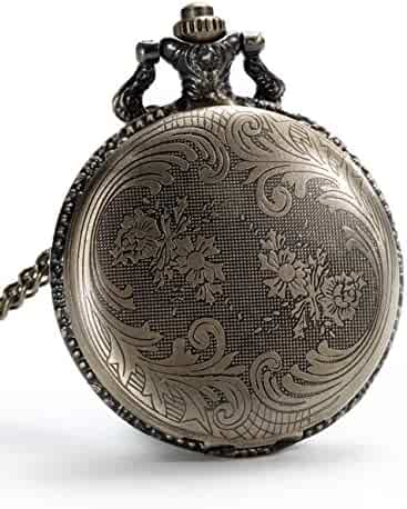 Mudder Vintage Quartz Pocket Watch with Chain