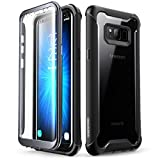 Samsung Galaxy S8 case, i-Blason [Ares] Full-Body Rugged Clear Bumper Case with Built-in Screen Protector for Samsung Galaxy S8 2017 Release (Black w/ScrProtector)