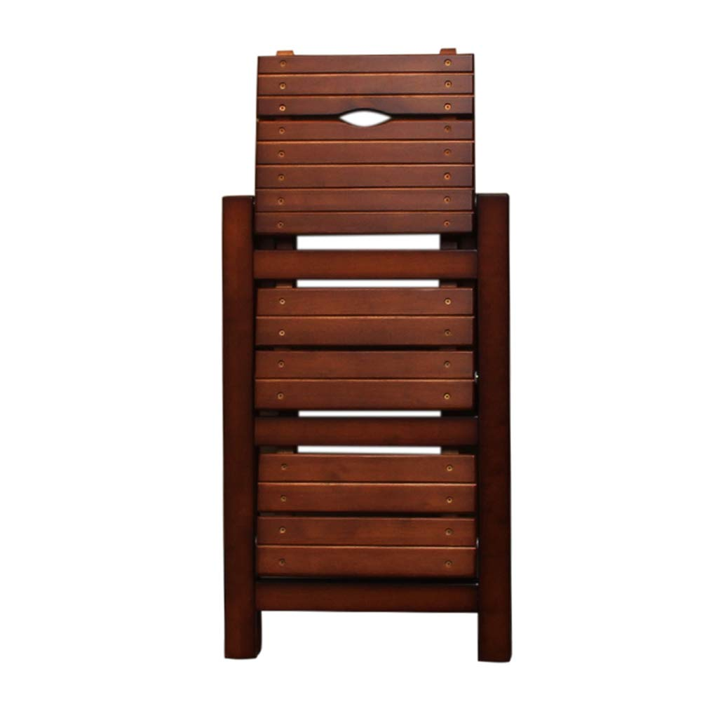 Folding heavy ladder 3-step bench - non-slip - easy to store foldable design - suitable for home kitchen garage foldable design