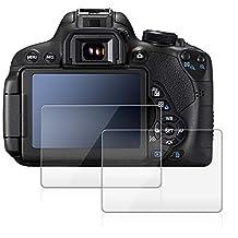 Screen Protector for Canon 700D 750D 760D T5i T6i T6S, AFUNTA 2 Pack Anti-scratch Tempered Glass