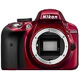 Nikon D3300 24.2 MP CMOS Digital SLR Body Only (Red) - International Version (No Warranty)