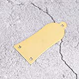 Truss Rod Cover, 3 Holes Iron Electric Guitar Truss Rod Cover Plate with Screws