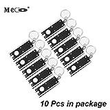 MECO lite light, Mini LED Camping Keyring Flashlight, Portable Thin & Tiny Flash Light Torch Keychain Lamp Key Chain, 45 lumen micro light -- 10Pcs