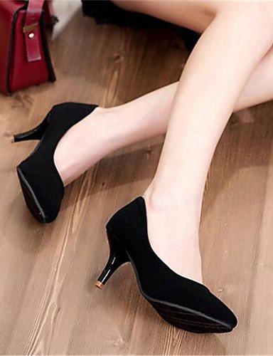 BGYHU GGX Damen Schuhe Synthetik Kitten Heel Heels Heels Heels Heels Party & Abend Kleid Schwarz Blau Rot c0de62