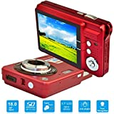 HD Mini Digital Camera with 2.7 Inch TFT LCD Display, Digital Video Camera (Red)- Sports, Travel, Outdoor, Camping, Birthday Gift
