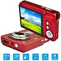 HD Mini Digital Camera with 2.7 Inch TFT LCD Display,...
